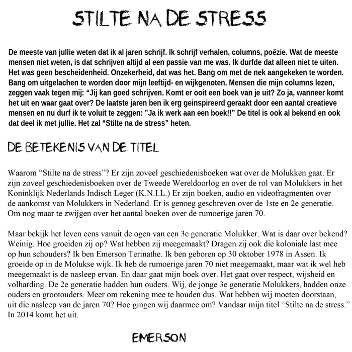 stilte na de stress