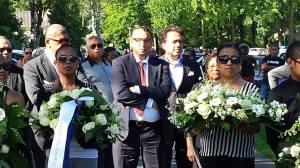 President Wattilete tijdens de herdenking 6 van De Punt 2014