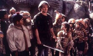 "Robin Williams als Peter Pan in ""Hook""."